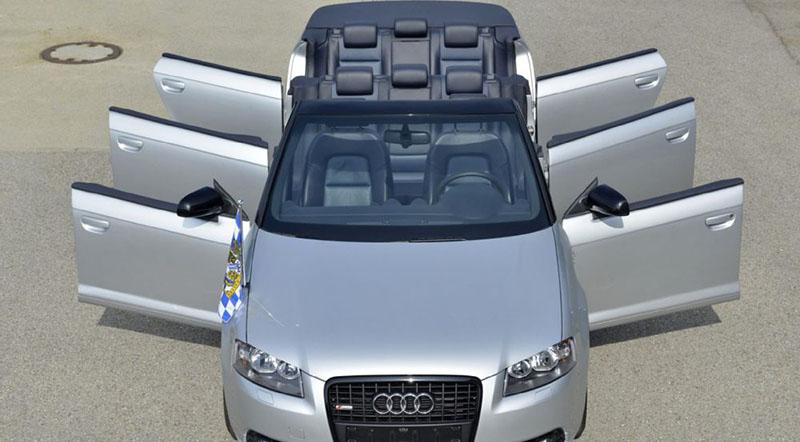 Audi Creates a Humongous 8 Seater Audi A3 Convertible - Motoraty