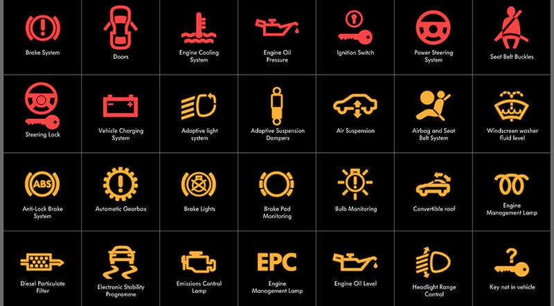 Car warning signs