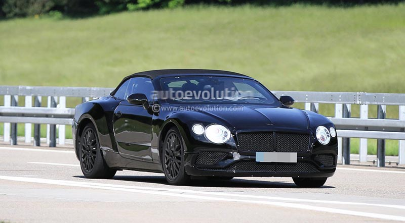 2018 Bentley Continental GT Convertible Caught Testing