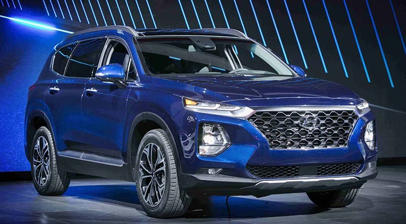 New Santa Fe Tucson And Kona Electric On Display At New York Auto - Car show displays for sale