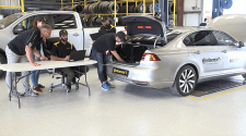 Self-Driving Tire-Testing Vehicle