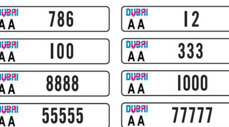 Rta Announces New Design For Dubai Vehicle Number Plates
